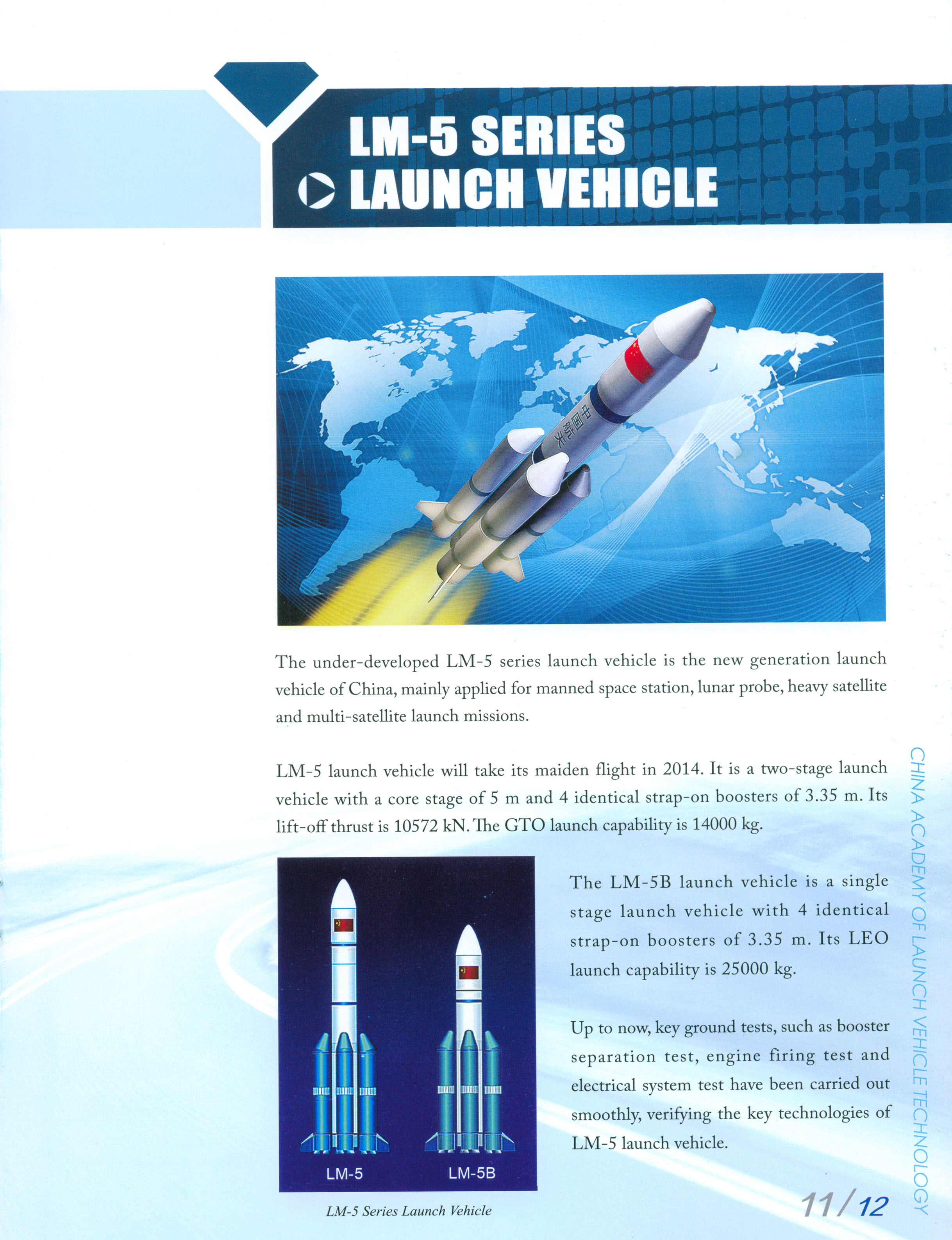 LM-5 SERIES LAUNCH VEHICLE